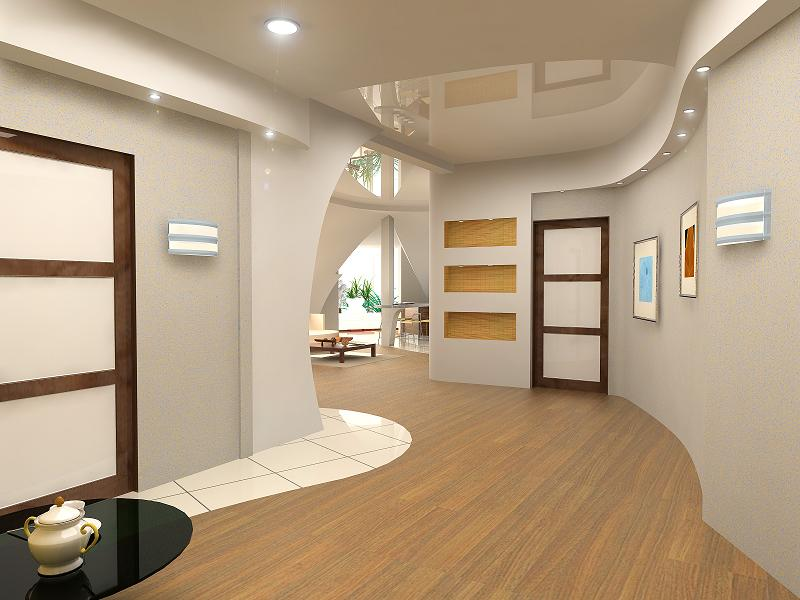 modern interior design (computer generated image 3D).