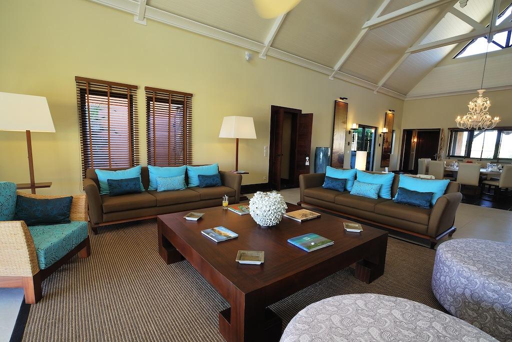 Beautiful Decoration Salon Bleu Et Marron Photos - House ...