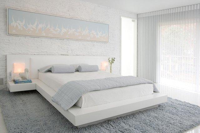 Emejing Chambre A Coucher Grise Et Blanche Pictures   House Design .